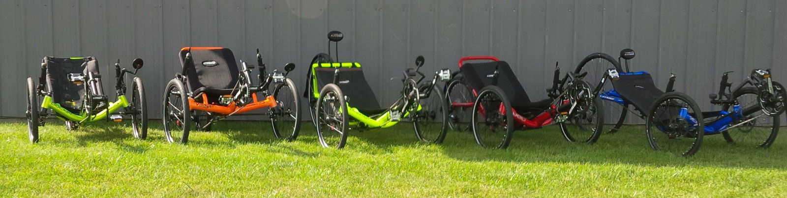 Recumbent Trikes in the Grass
